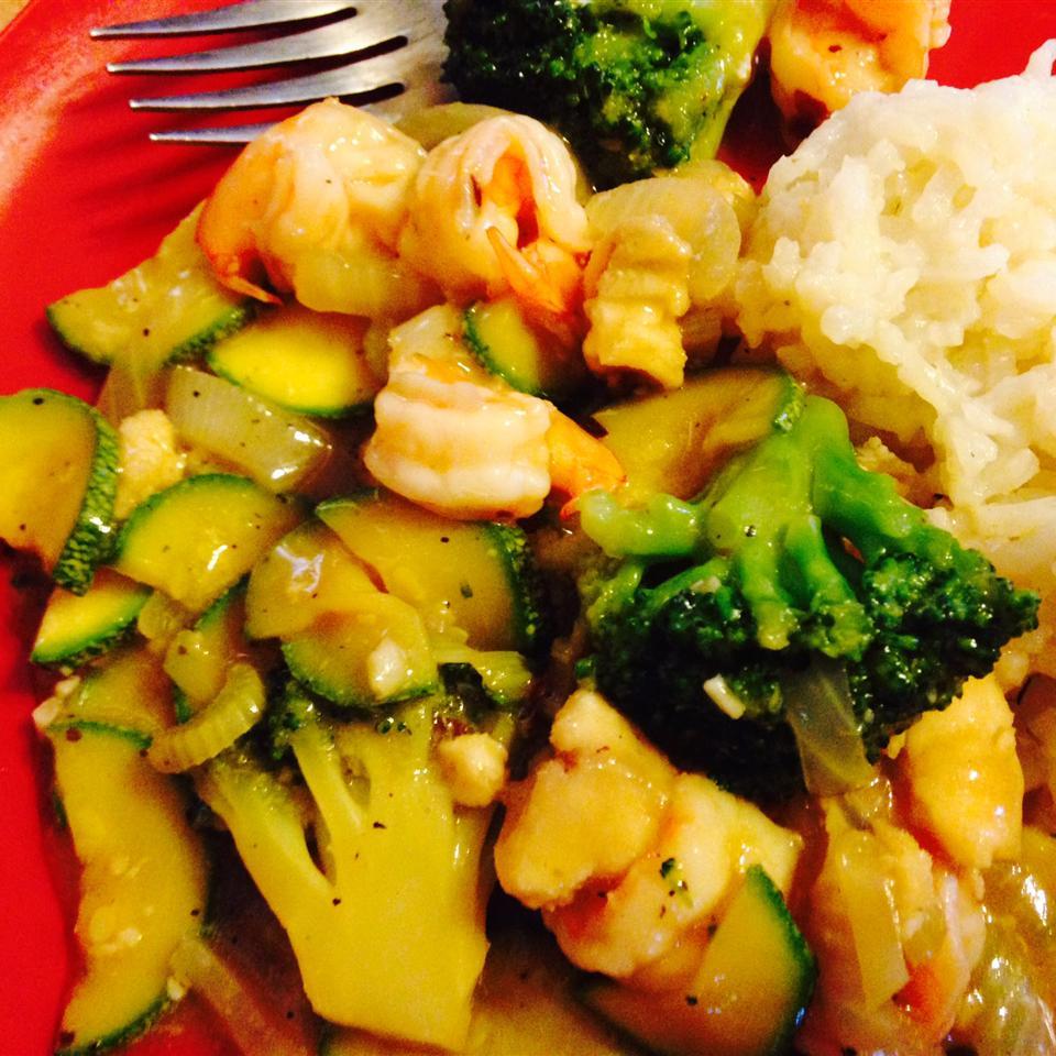 Honey-Ginger Shrimp and Vegetables Jose&RubyVargas