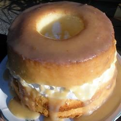 Angel Food Cake With Caramel Sauce KitchenWitch