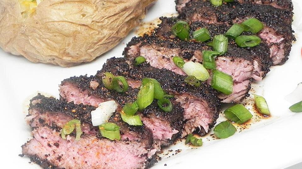 Coffee-Crusted Beef Tenderloin Steak