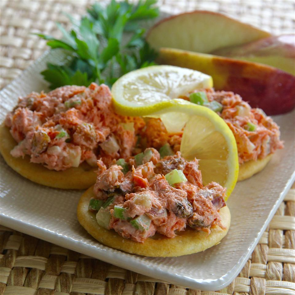 Fruity Red Salmon Salad