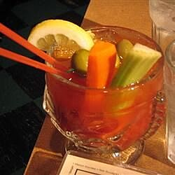 spicy red snapper bloody mary with gin recipe