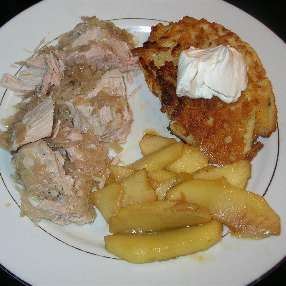 Sauerkraut-Stuffed Slow-Cooked Pork Roast