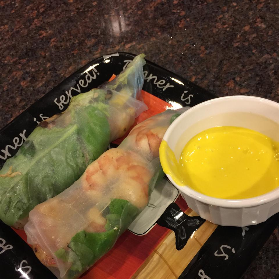 Lobster and Avocado Summer Roll with Mango Coulis Ryan Nomura