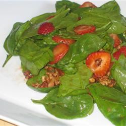 Spinach Salad With Berries and Curry Dressing Fit&Healthy Mom