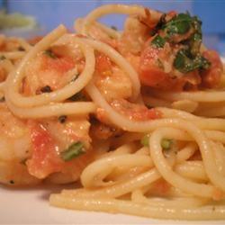 Fire Roasted Tomato and Feta Pasta with Shrimp Andrea McKenzie Vyse