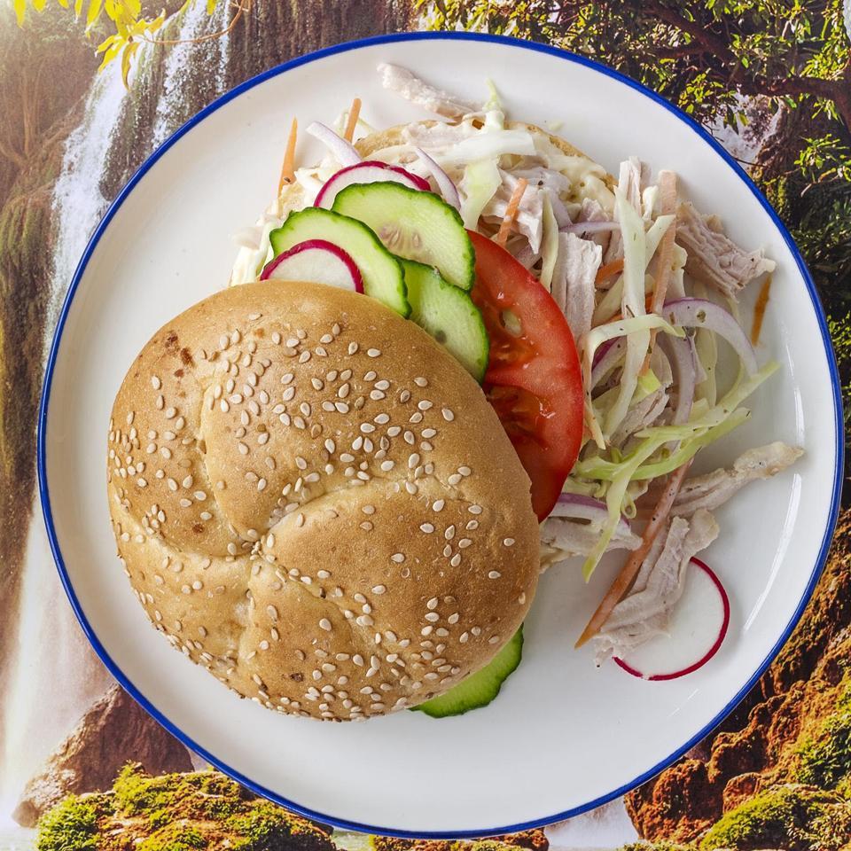 Turkey-Curtido Sandwiches