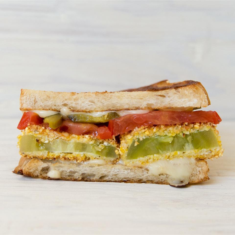 Fried Green Tomato Sandwich gnomeygoose