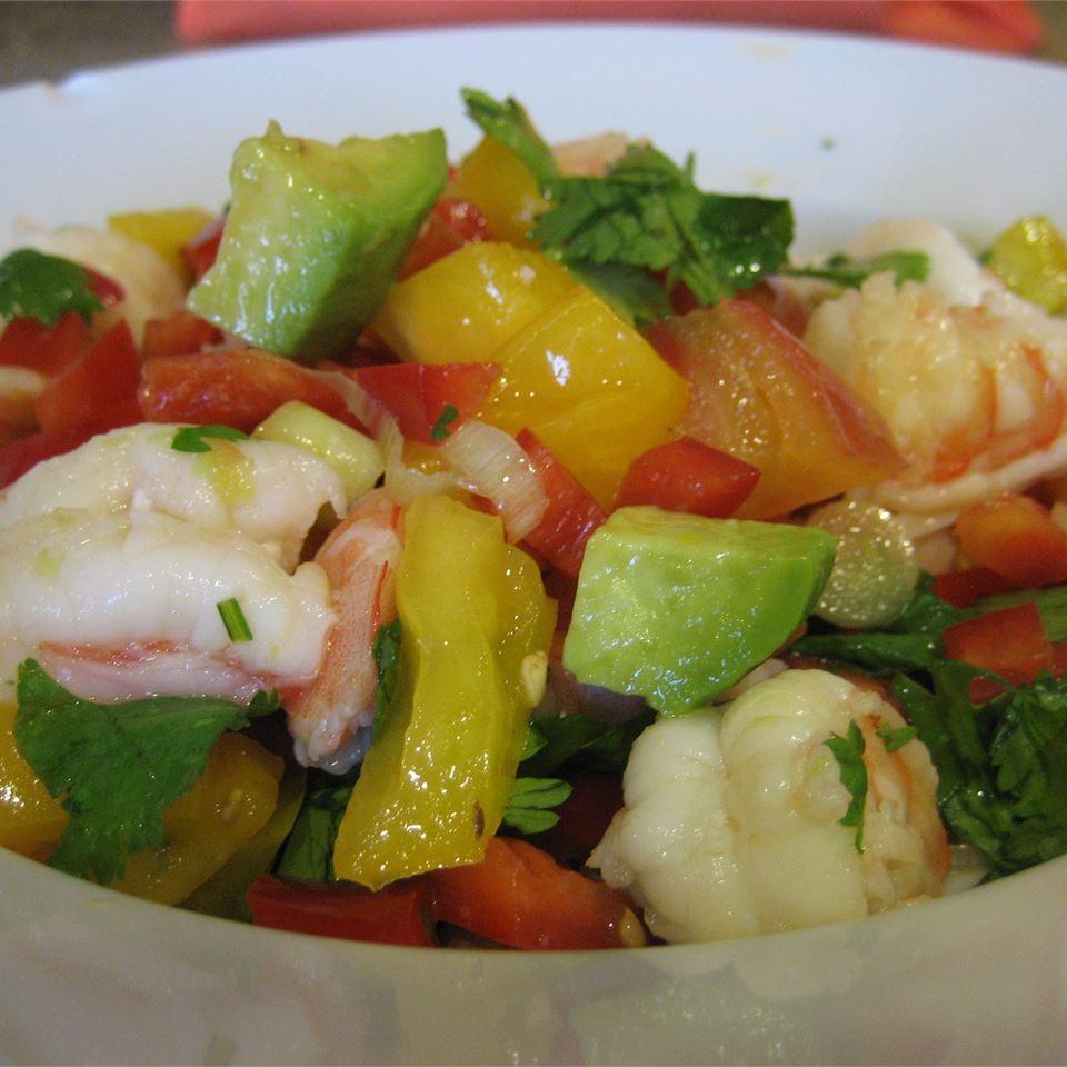 Avocado-Lime Shrimp Salad (Ensalada de Camarones con Aguacate y Limon)