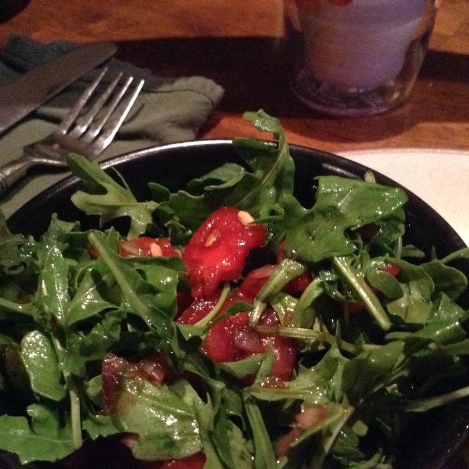 Arugula and Watermelon Salad lil bit