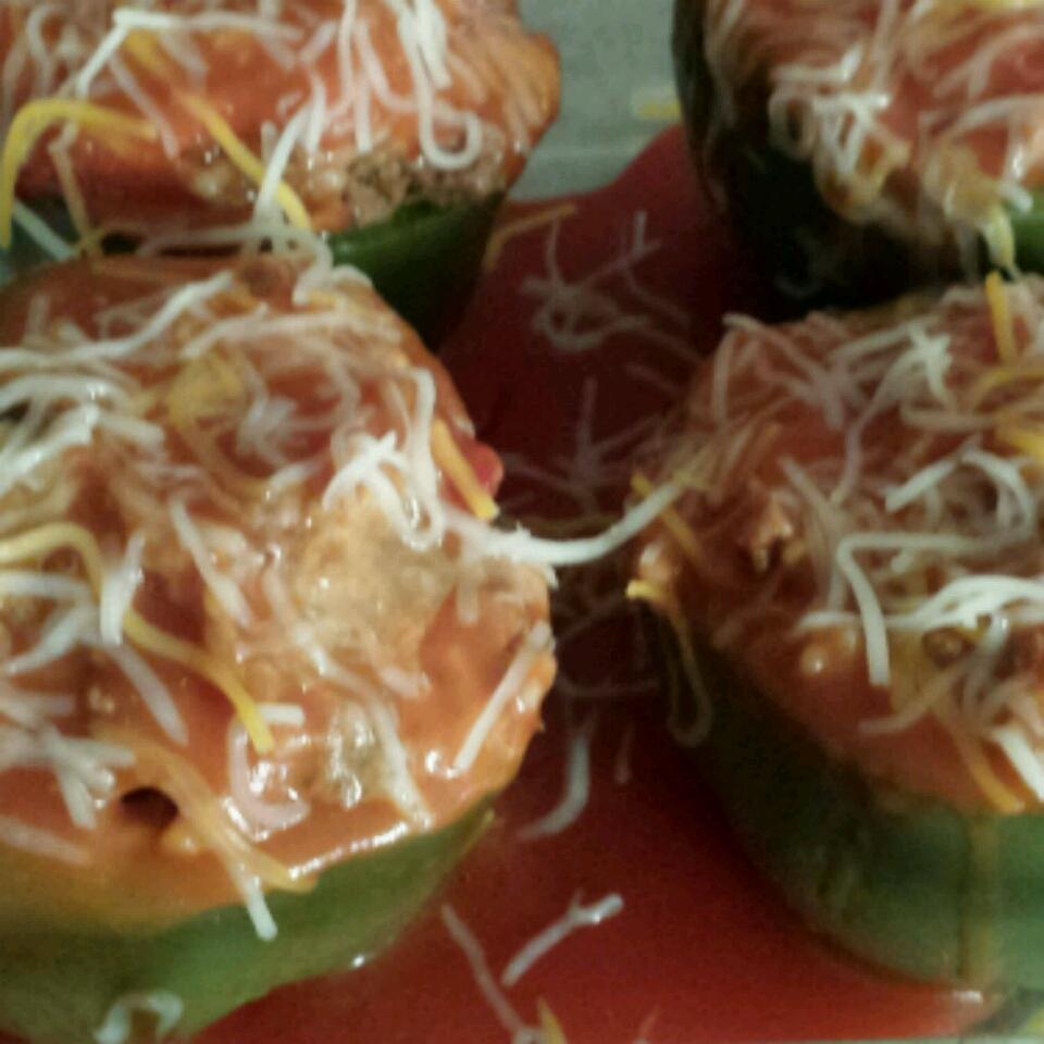 Stuffed Green Peppers I connie