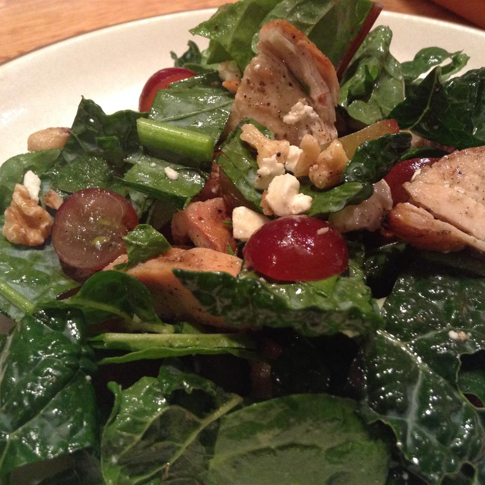 Kale, Swiss Chard, Chicken, and Feta Salad Jessica Paige