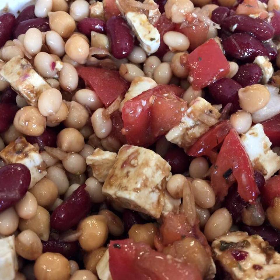 Three Bean Salad with Feta Cheese Kitchen Kitty