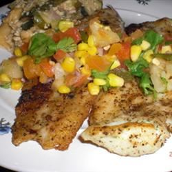 Catfish with Tropical Fruit Salsa Patty Cakes