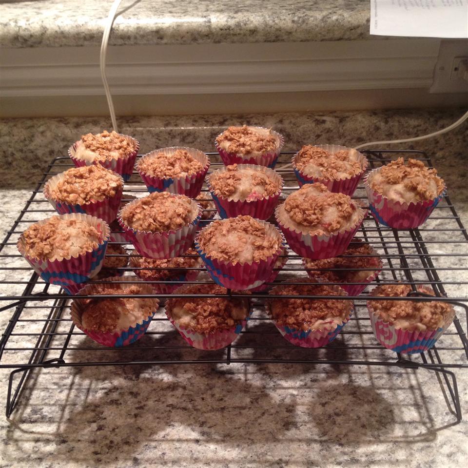 Rhubarb Crisp Muffins chrisk88