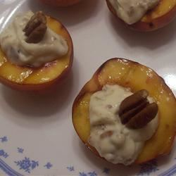 Grilled Peaches and Cream saiahsmom