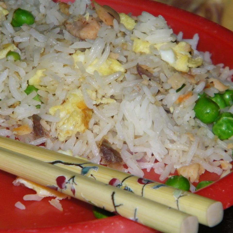 Mom's Smoked Salmon Fried Rice