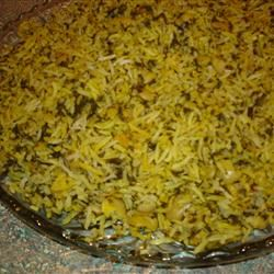 Persian Sabzi Polo (Herb Rice with Fava Beans) Lady at the Stove