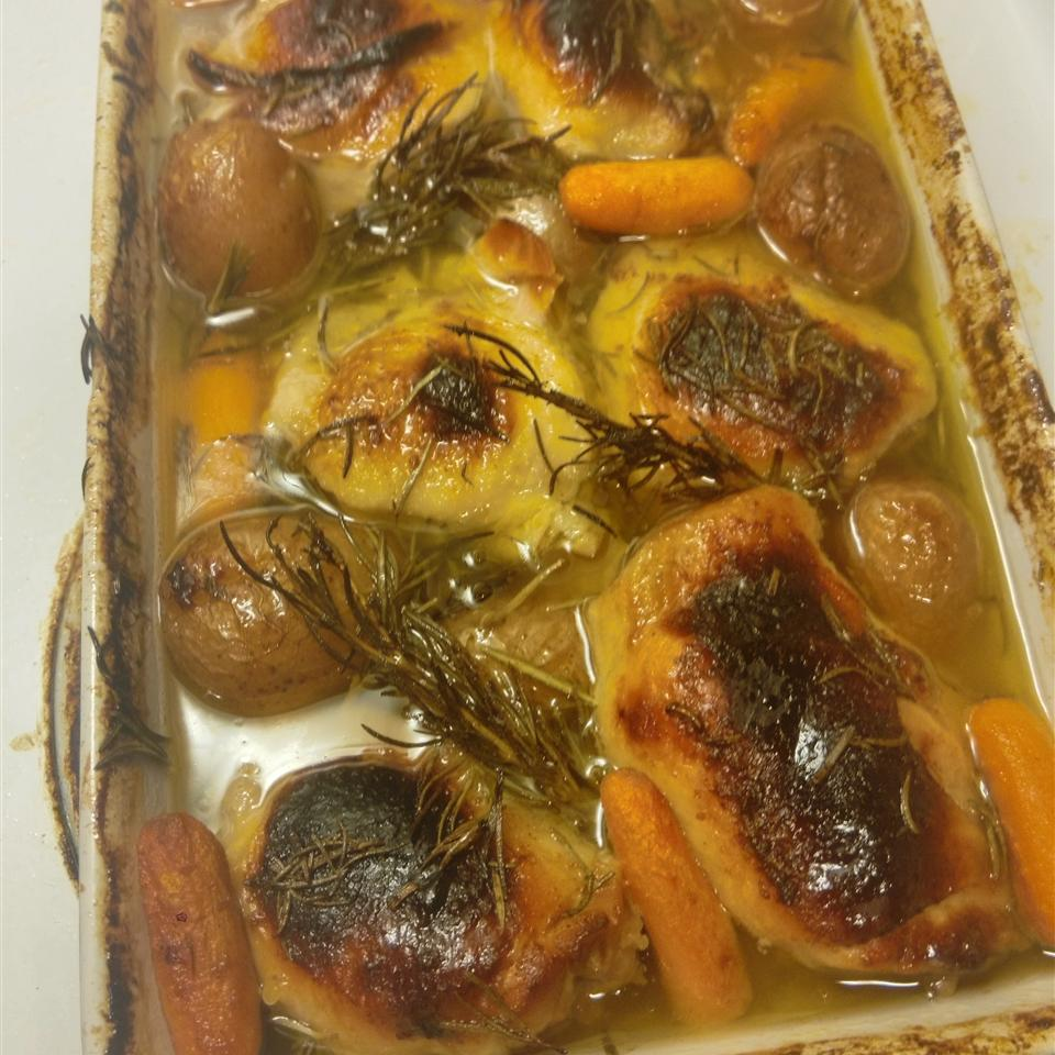 Roasted Orange Rosemary Honey Glazed Chicken chef mama E