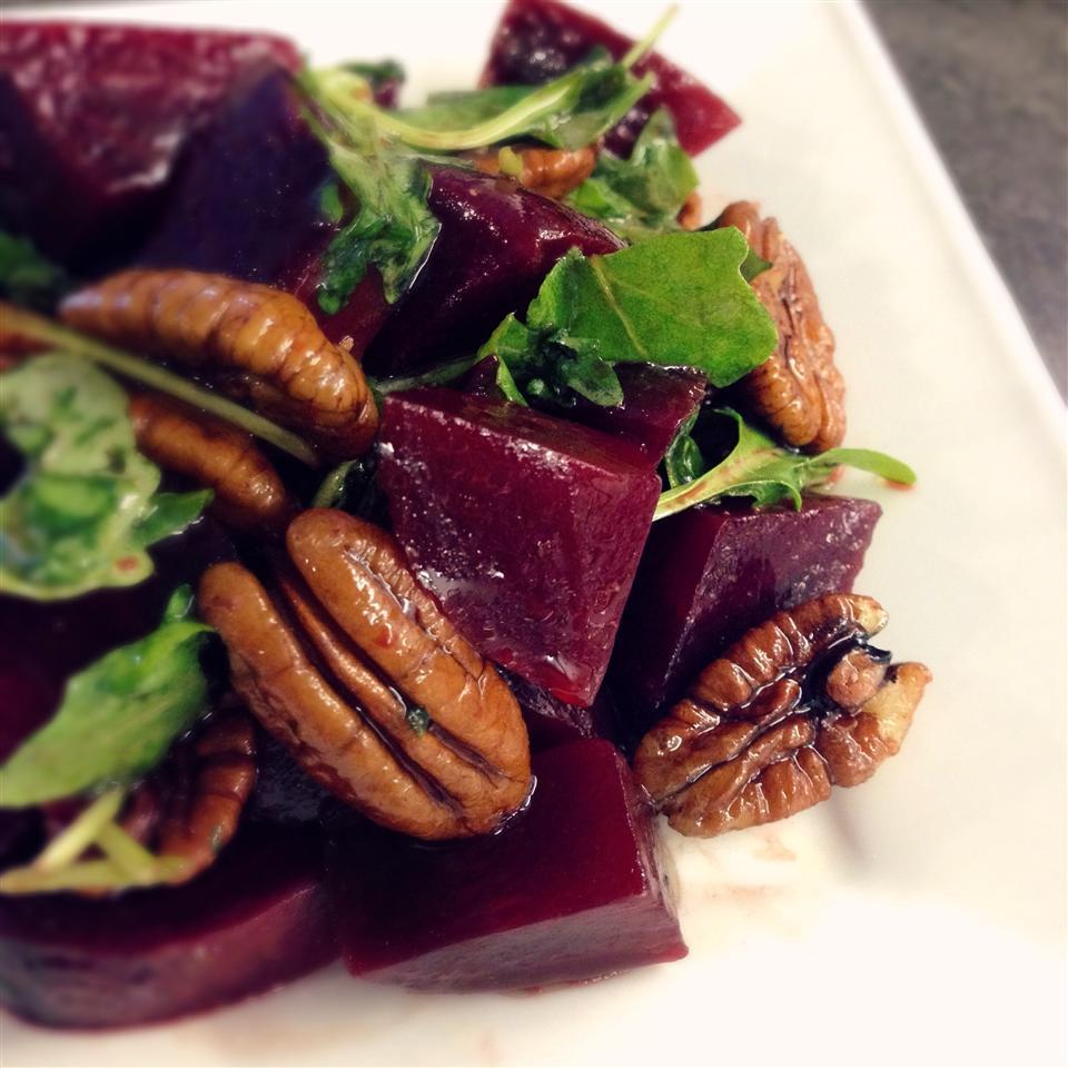 Roasted Beet, Arugula, and Walnut Salad