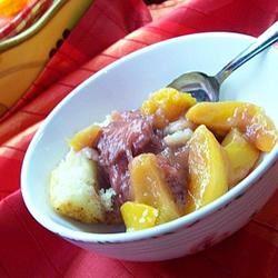 Peach Berry Cobbler