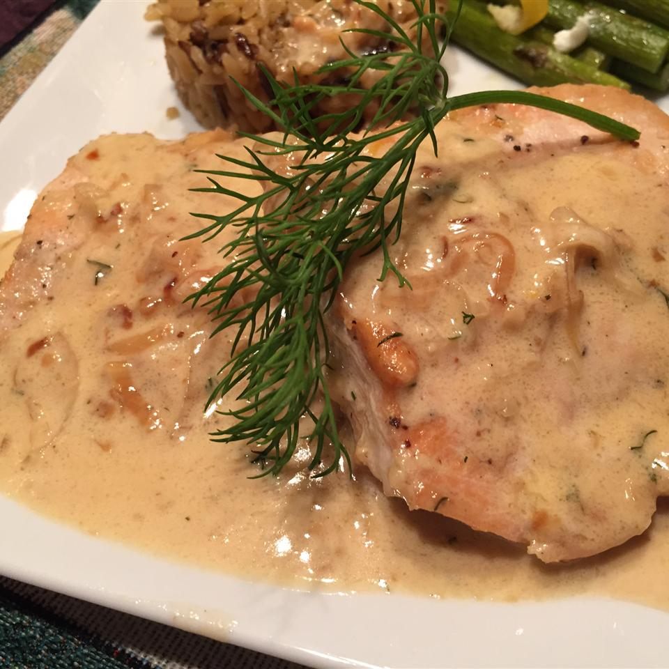 Salmon with Creamy Dill Sauce from Swanson® thedailygourmet