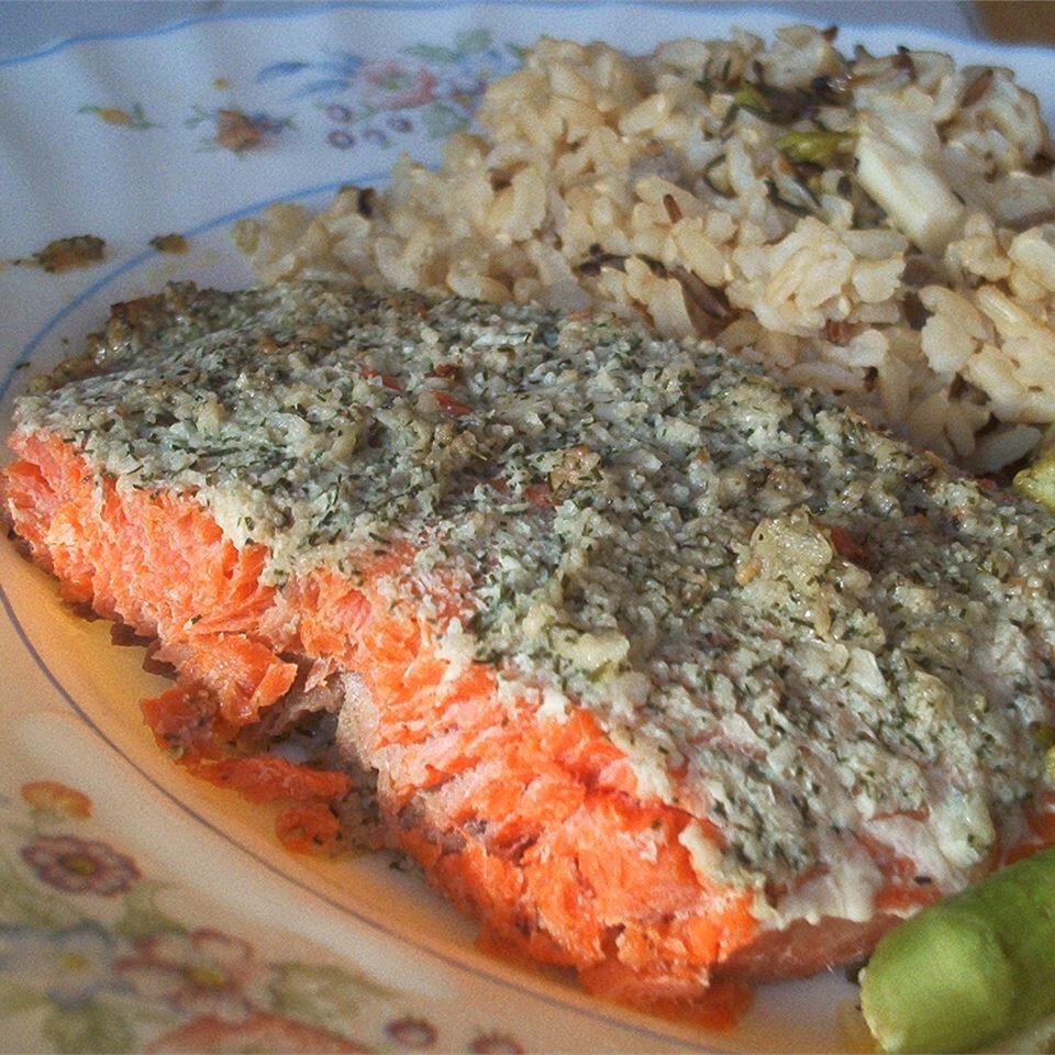 Garlic and Dill Salmon