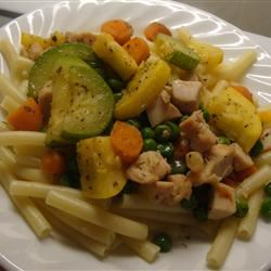 Bow Ties, Zucchini, Carrots, and Chicken amandak23k