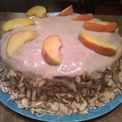 Peaches and Cream Cake gizmokitty89