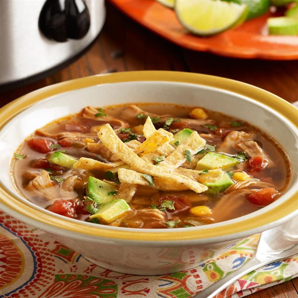 PAM's Spicy Slow Cooker Chicken Tortilla Soup Trusted Brands