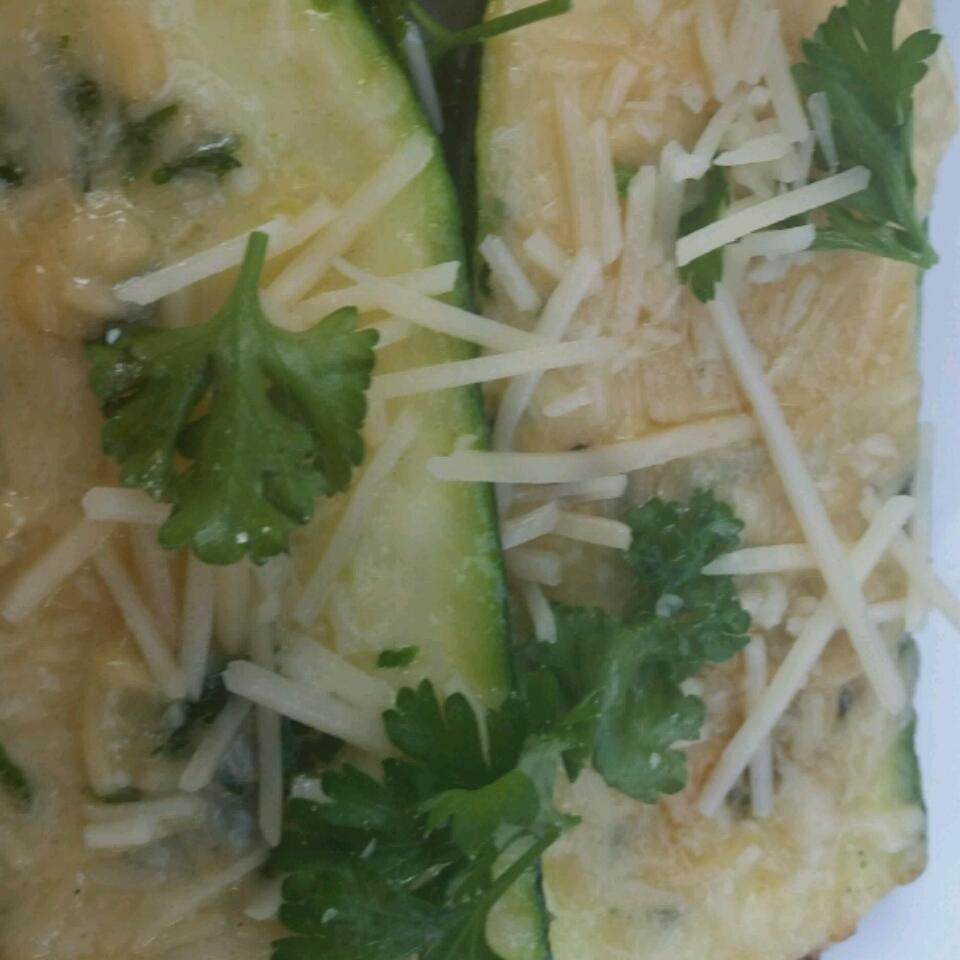 Grilled Garlic Parmesan Zucchini cynannarr