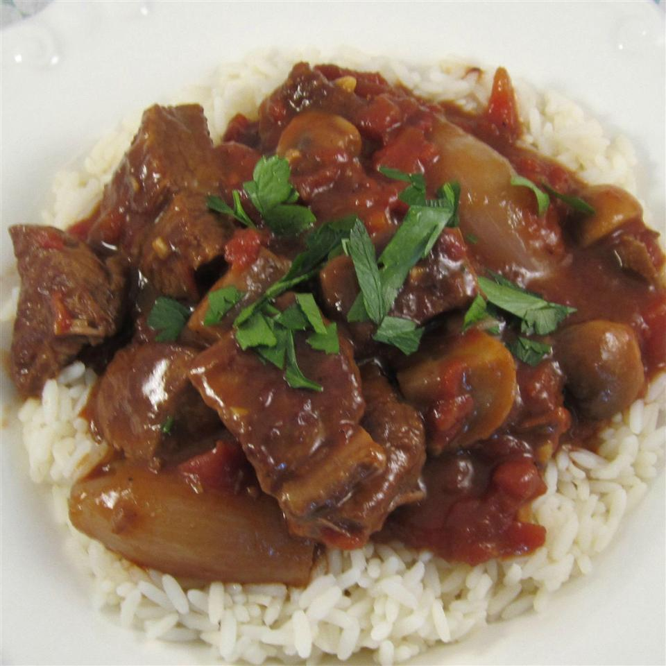 Braised Beef with Shallots and Mushrooms Deb C