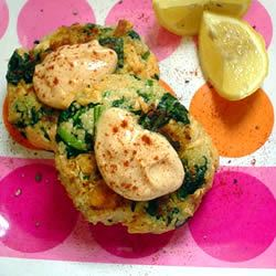 Moroccan Salmon Cakes with Garlic Mayonnaise AnMei