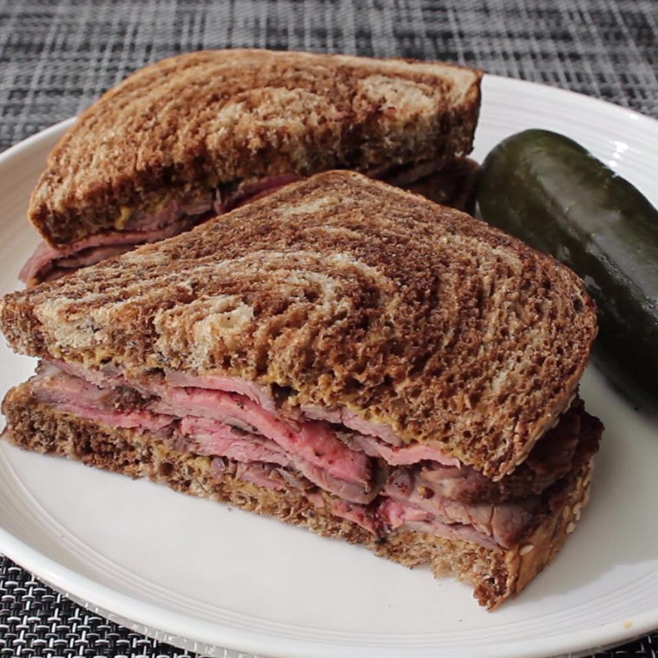 """Grilled Flank Steak """"Pastrami"""" The Gruntled Gourmand"""