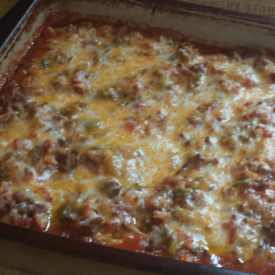 Meaty Stuffed Pepper Casserole