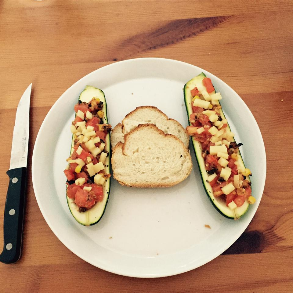 Italian-Style Stuffed Zucchini  (Kid-Friendly)
