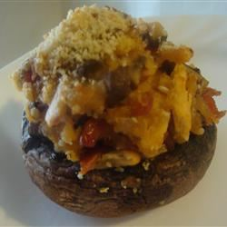 Pepperoni Stuffed Mushrooms amandak23k