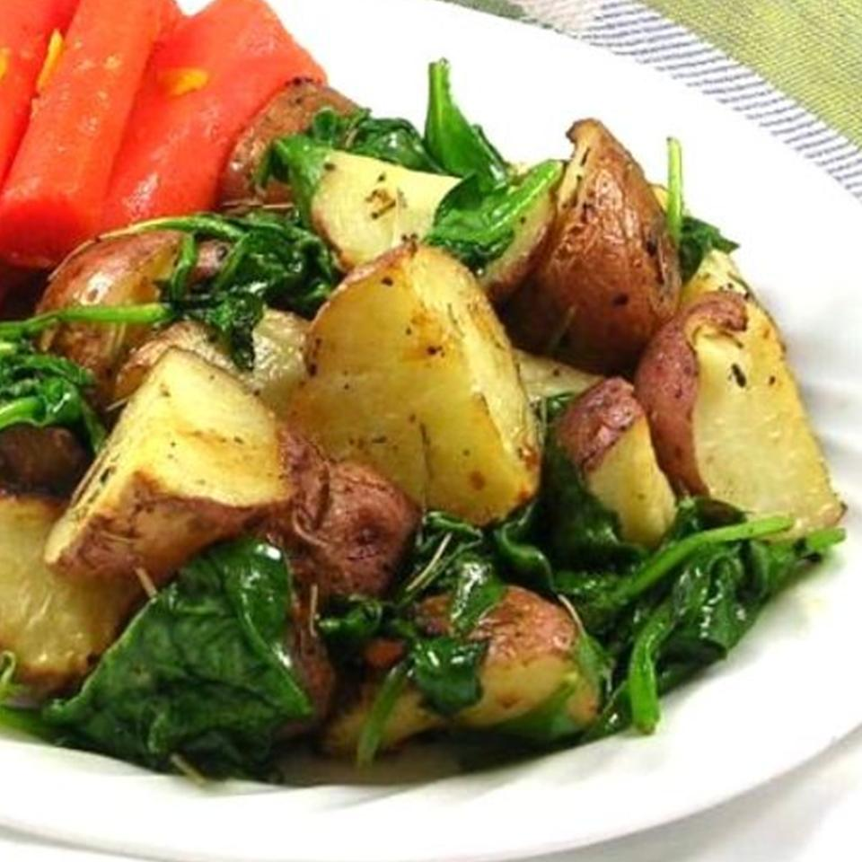 Roasted Potatoes with Greens DIZ♥