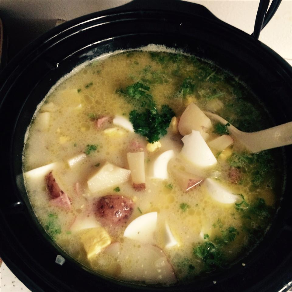 Slow Cooked Ham and Potato Chowder