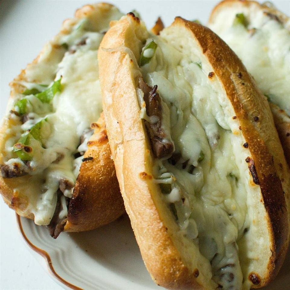philly cheesesteak sandwich with garlic mayo recipe