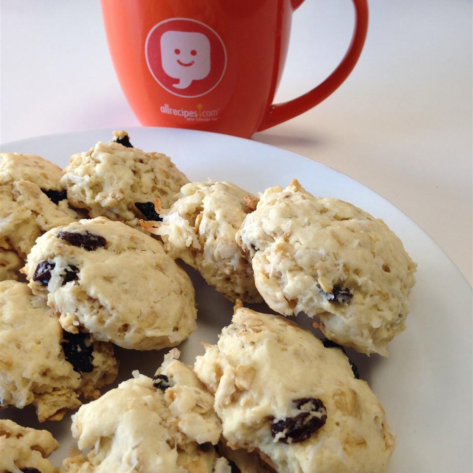 Coconut Ginger Oatmeal Raisin Cookies