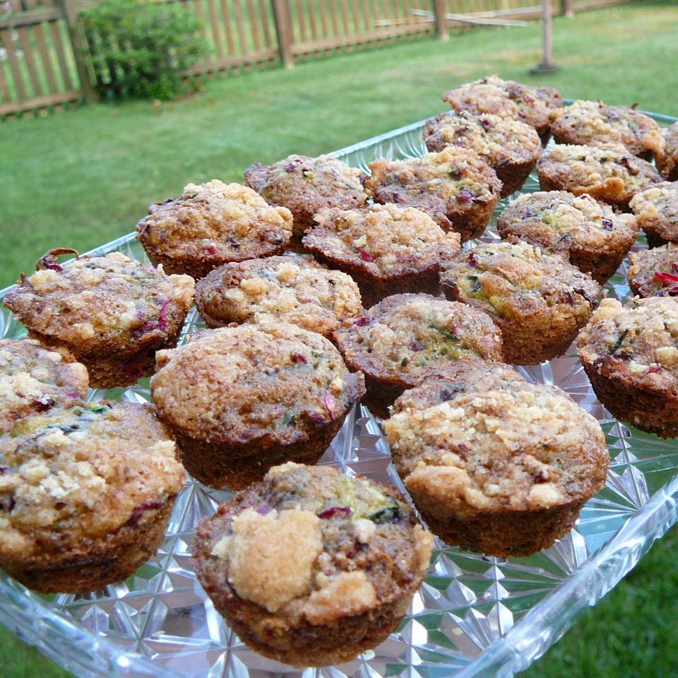Farm Fresh Zucchini Cranberry Nut Muffins