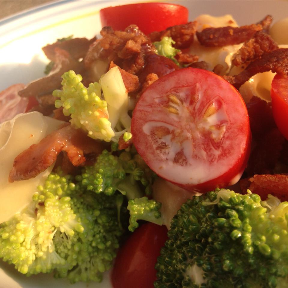 Tortellini Bacon Broccoli Salad bikerfamily