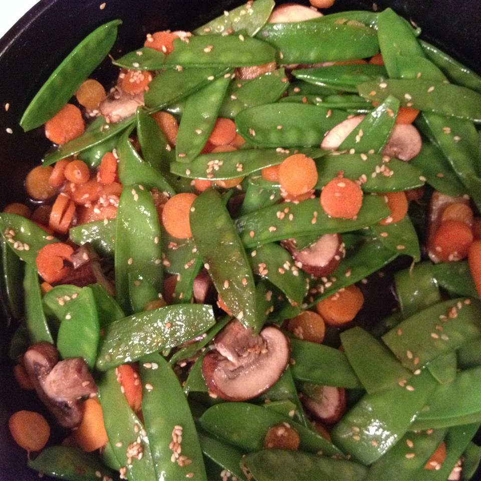 Stir Fried Snow Peas and Mushrooms Virtuenow