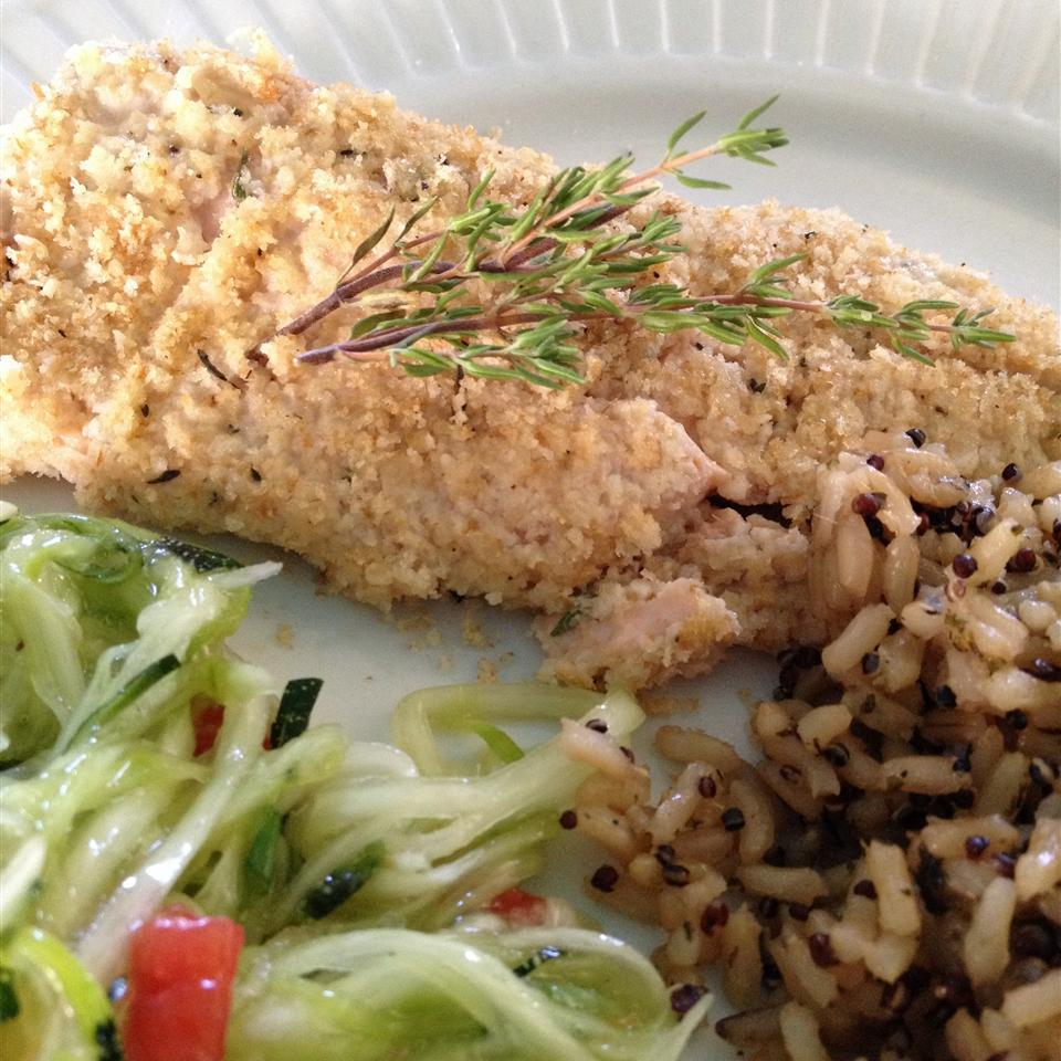 Almond Herb-Crusted Trout for Two