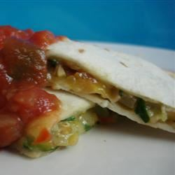 Farmer's Market Vegetarian Quesadillas susanne