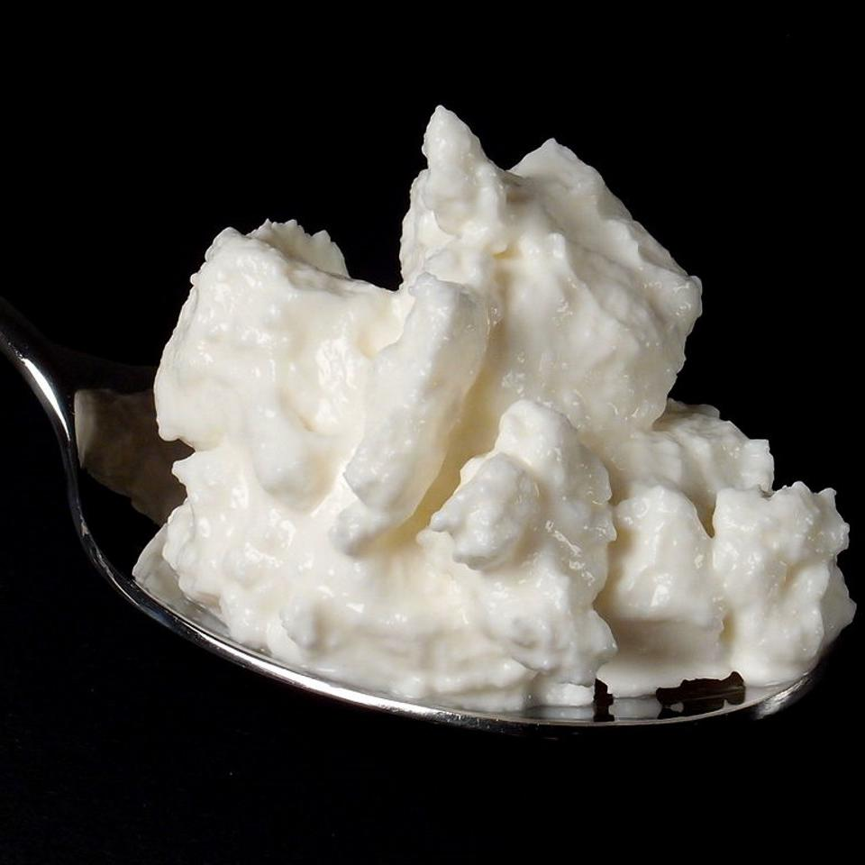 "Another two-ingredient recipe, this one combines milk and buttermilk. ""I discovered Quark at a farmers market and instantly fell in love, but it's been difficult to find in stores,"" Darin R. Molnar. ""This recipe is a fine replacement for more expensive creme fraiche and pairs well with fresh fruit for dessert."""