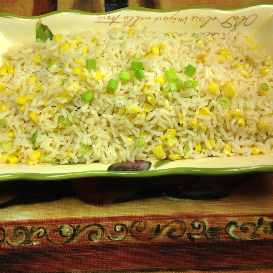 Rice with Pan-Roasted Corn and Onions Cliff G