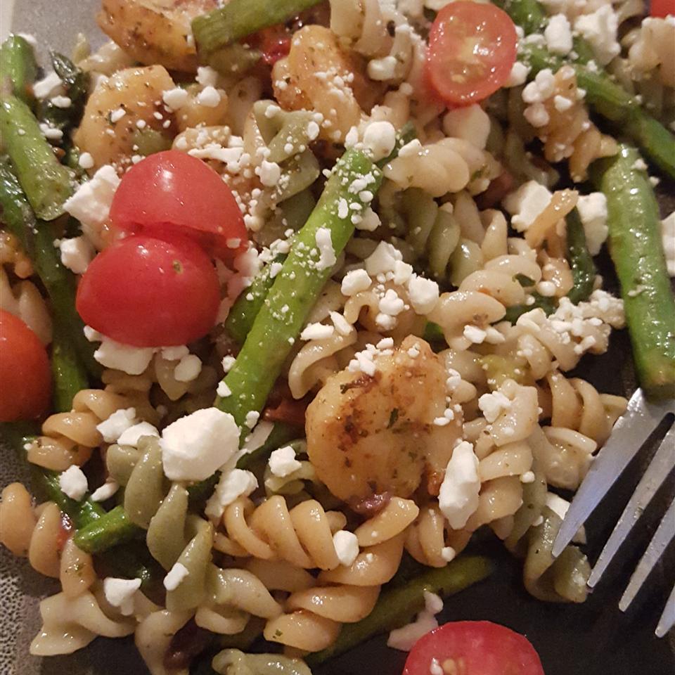 Zesty Feta and Shrimp Summer Pasta Salad