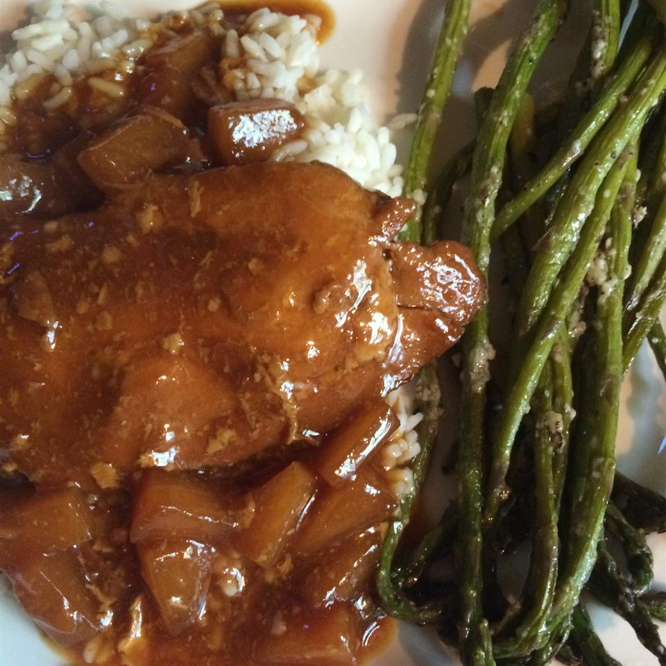 Slow Cooker Honey Garlic Chicken Demeter1