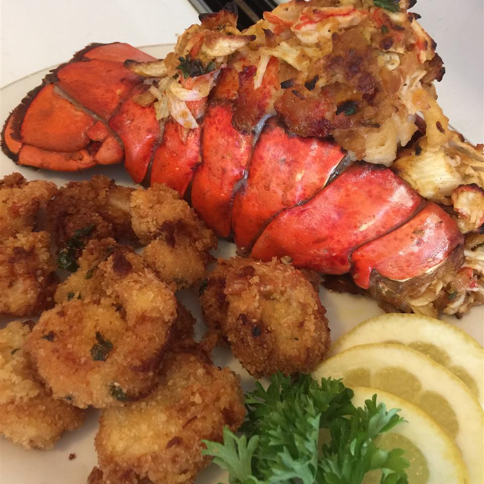 Crab-Stuffed Lobster Tail